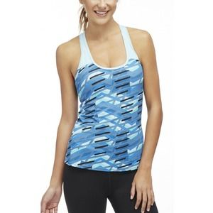 Fabletics Blue Strappy Workout Tank Top Size Small